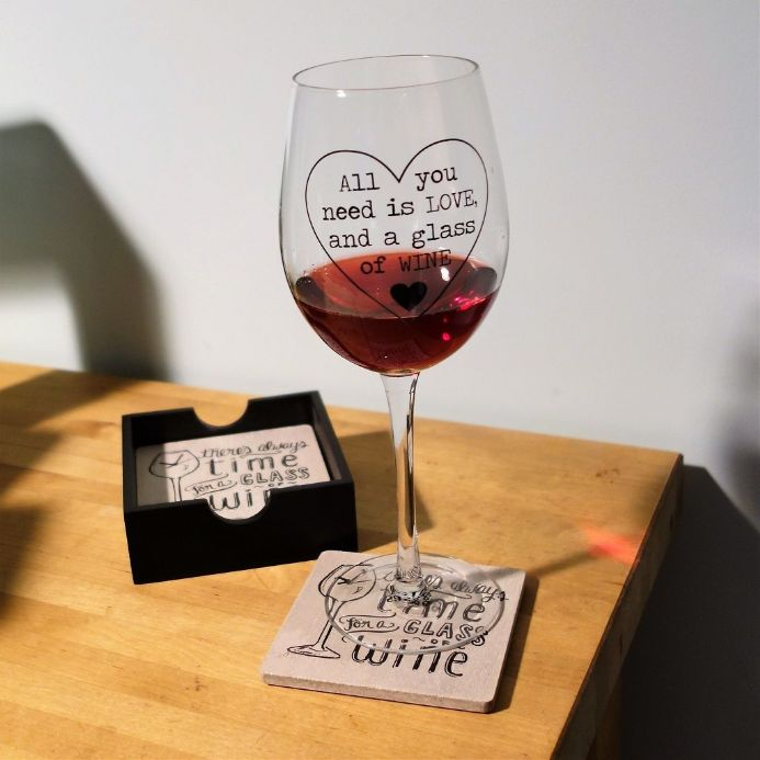 50% off All you need is love.... Wine Glass